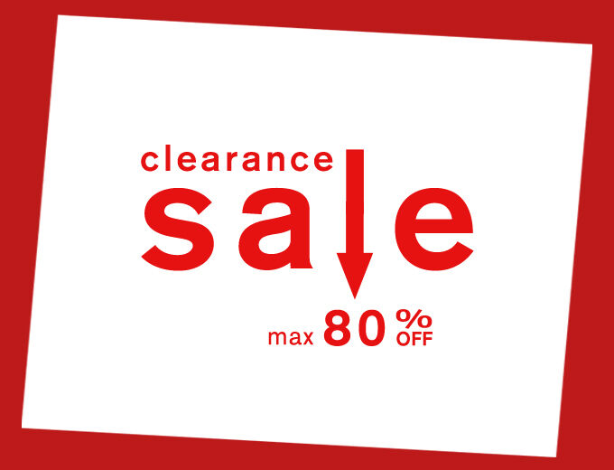 clearance sale max80%OFF